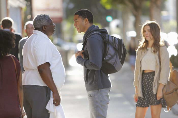 """THE FOSTERS - """"Wreckage"""" - In the season premiere, summer has brought many changes for the Adams Foster family. (ABC Family/Tony Rivetti) HARRISON WHITE, TOM WILLIAMSON, MAIA MITCHELL"""