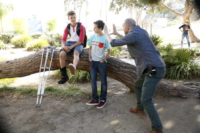 """THE FOSTERS - """"Wreckage"""" - In the season premiere, summer has brought many changes for the Adams Foster family. (ABC Family/Adam Taylor) GAVIN MACINTOSH, HAYDEN BYERLY, PETER PAIGE (DIRECTOR)"""