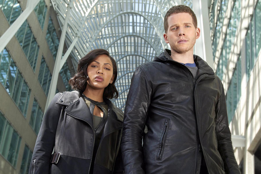 Meagan Good as Detective Vega and Stark Sands as Dash Minority Report FOX