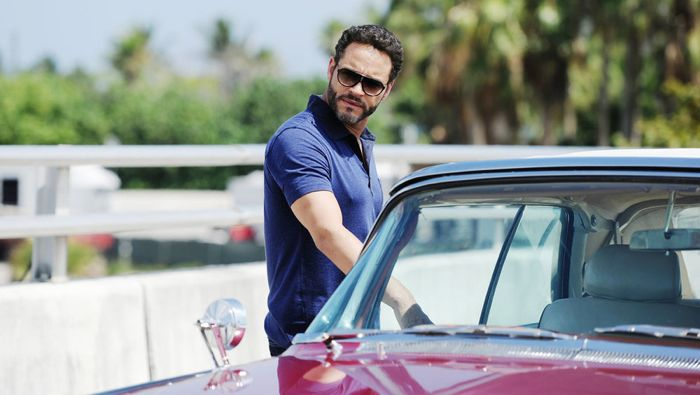 """GRACELAND -- """"Chester Cheeto"""" Episode 302 -- Pictured: Daniel Sunjata as Paul Briggs -- (Photo by: Jeff Daly/USA Network)"""