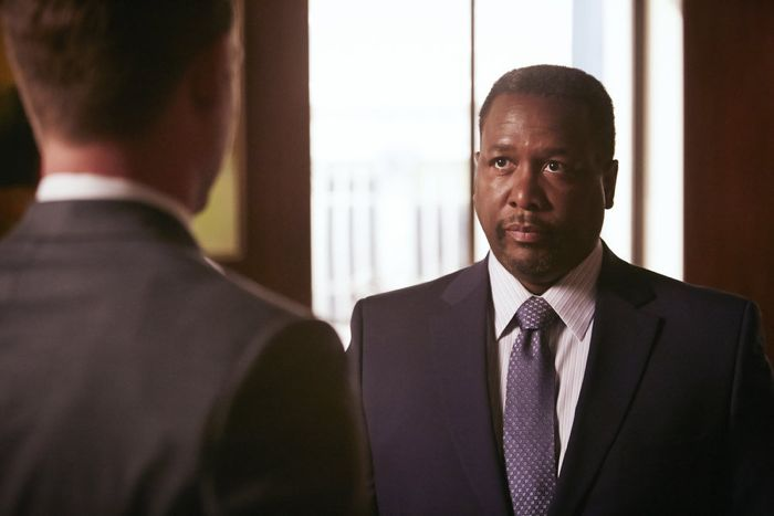 """SUITS -- """"Compensation"""" Episode 502 -- Pictured: Wendell Pierce as Robert Zane -- (Photo by: Ian Watson/USA Network)"""