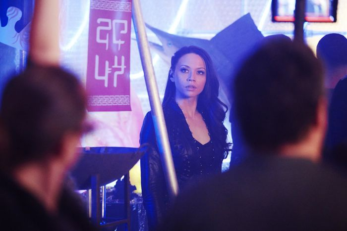 """DARK MATTER -- """"Episode Four"""" Episode 104 -- Pictured: Melissa O'Neil as Two -- (Photo by: Steve Wilkie/Prodigy Pictures/Syfy)"""