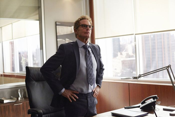 """SUITS -- """"Denial"""" Episode 501 -- Pictured: Jere Burns as Vince Sanfilippo -- (Photo by: Shane Mahood/USA Network)"""