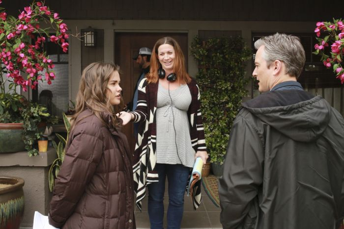 """THE FOSTERS - """"Father's Day"""" - The Adams Foster family celebrates Father's Day in an all-new episode of """"The Fosters,"""" airing Monday, June 15, 2015 at 8:00PM ET/PT on ABC Family. (ABC Family/Ron Tom) MAIA MITCHELL, APRILL WINNEY (DIRECTOR), KERR SMITH"""