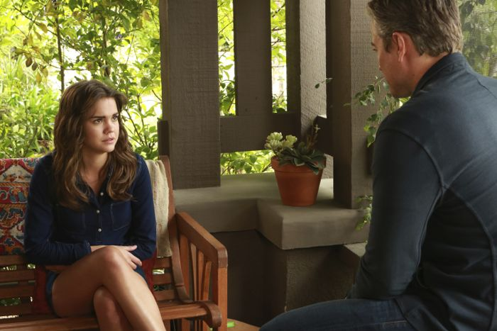 """THE FOSTERS - """"Father's Day"""" - The Adams Foster family celebrates Father's Day in an all-new episode of """"The Fosters,"""" airing Monday, June 15, 2015 at 8:00PM ET/PT on ABC Family. (ABC Family/Ron Tom) MAIA MITCHELL, KERR SMITH"""