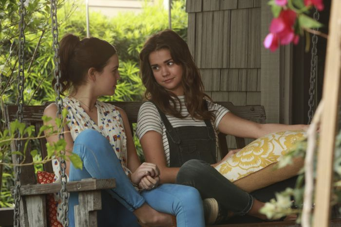 """THE FOSTERS - """"Father's Day"""" - The Adams Foster family celebrates Father's Day in an all-new episode of """"The Fosters,"""" airing Monday, June 15, 2015 at 8:00PM ET/PT on ABC Family. (ABC Family/Ron Tom) BAILEE MADISON, MAIA MITCHELL"""