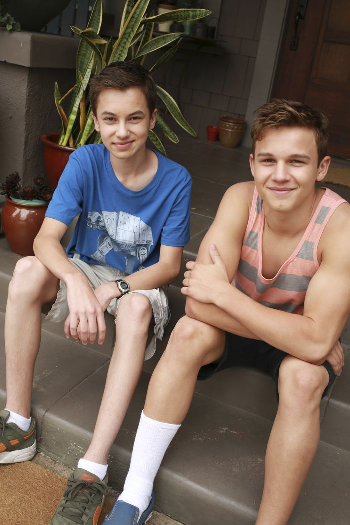 "THE FOSTERS - ""Father's Day"" - The Adams Foster family celebrates Father's Day in an all-new episode of ""The Fosters,"" airing Monday, June 15, 2015 at 8:00PM ET/PT on ABC Family. (ABC Family/Ron Tom) HAYDEN BYERLY, GAVIN MACINTOSH"