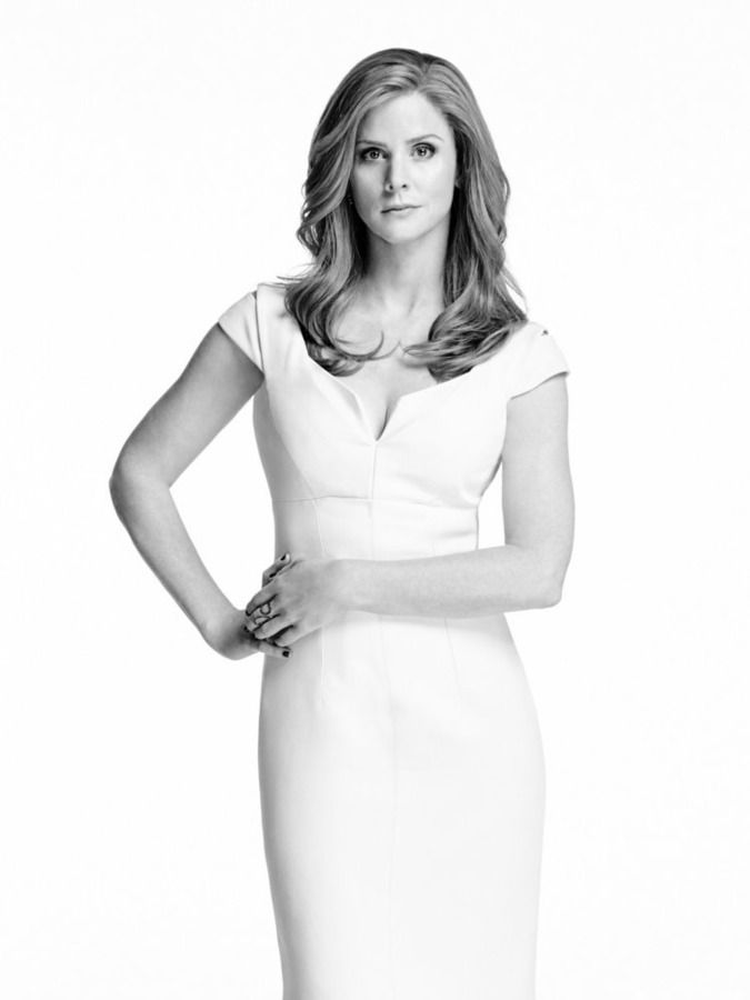 SUITS -- Season:5 -- Pictured: Sarah Rafferty as Donna Paulsen -- (Photo by: Nigel Parry/USA Network)