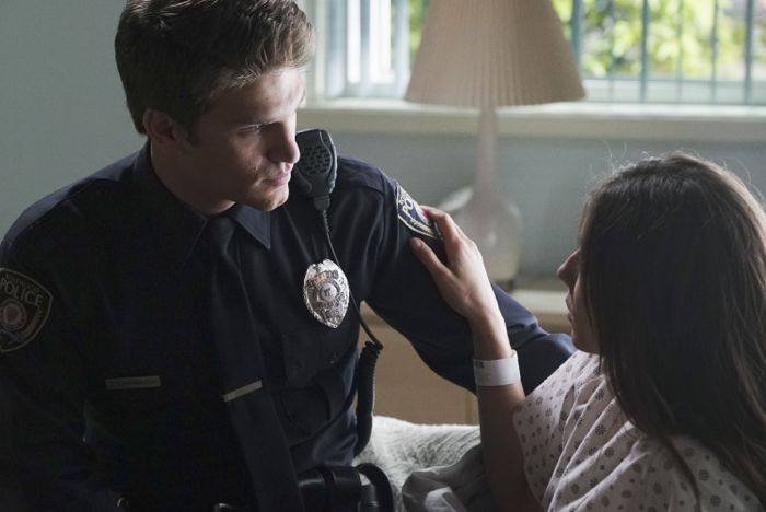 """PRETTY LITTLE LIARS - """"Songs of Innocence"""" - Aria, Emily, Hanna and Spencer are out of the Dollhouse but far from free of its lasting effects in """"Songs of Innocence,"""" an all-new episode of ABC Family's hit original series """"Pretty Little Liars,"""" airing Tuesday, June 9th (8:00 – 9:00 PM ET/PT). (ABC Family/Eric McCandless) KEEGAN ALLEN, TROIAN BELLISARIO"""