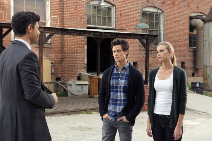 """STITCHERS - """"Friends in Low Places"""" - Kirsten crosses paths with Detective Fisher again when they end up working on the same overdose death of a young woman in an all-new episode of """"Stitchers,"""" airing Tuesday, June 9, 2015 at 9:00PM ET/PT on ABC Family. (ABC Family/Tony Rivetti) DAMON DAYOUB, KYLE HARRIS, EMMA ISHTA"""