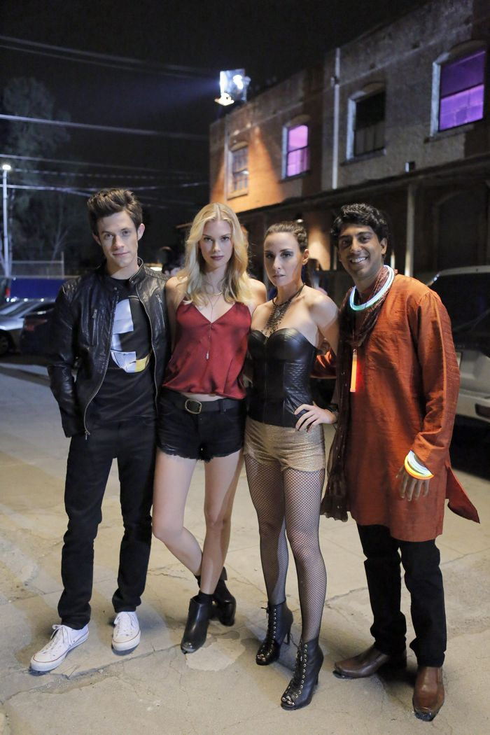 "STITCHERS - ""Friends in Low Places"" - Kirsten crosses paths with Detective Fisher again when they end up working on the same overdose death of a young woman in an all-new episode of ""Stitchers,"" airing Tuesday, June 9, 2015 at 9:00PM ET/PT on ABC Family. (ABC Family/Tony Rivetti) KYLE HARRIS, EMMA ISHTA, ALLISON SCAGLIOTTI, RITESH RAJAN"
