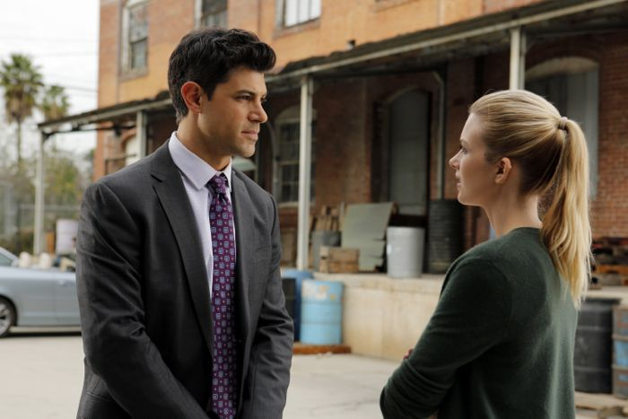 """STITCHERS - """"Friends in Low Places"""" - Kirsten crosses paths with Detective Fisher again when they end up working on the same overdose death of a young woman in an all-new episode of """"Stitchers,"""" airing Tuesday, June 9, 2015 at 9:00PM ET/PT on ABC Family. (ABC Family/Tony Rivetti) DAMON DAYOUB, EMMA ISHTA"""