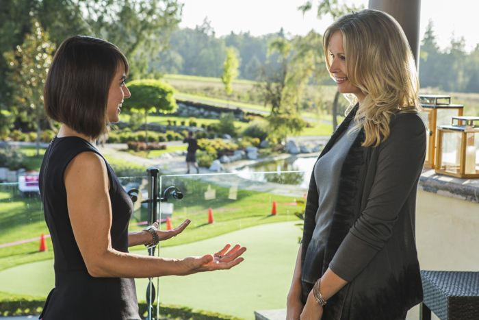 """(L to R) Constance Zimmer (""""Quinn"""") and Sonya Salomaa (""""Cynthia"""") star in Lifetime's all-new drama UnREAL airing, Monday, June 8 at 10pm ET/PT on Lifetime."""