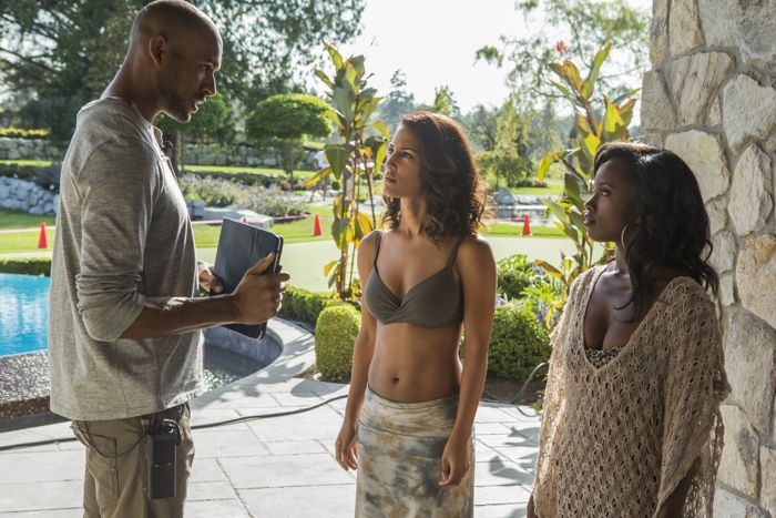 """(L to R) Jeffrey Bowyer-Chapman (""""Jay""""), Christie Laing (""""Shamiqua"""") and Natasha Burnett (""""Athena"""") star in Lifetime's all-new drama UnREAL airing, Monday, June 8 at 10pm ET/PT on Lifetime."""