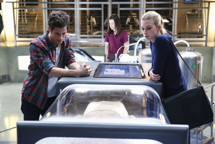 "STITCHERS - ""A Stitch in Time"" - Highly intelligent and emotionally distant, Kirsten Clark has an aptitude for technology but never expected that she'd be hacking into the minds of the recently deceased, in the series premiere of ""Stitchers,"" airing Tuesday, June 2, 2015 at 9:00PM ET/PT on ABC Family. (ABC Family/Adam Taylor) KYLE HARRIS, EMMA ISHTA"