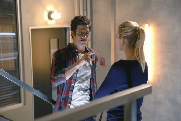 """STITCHERS - """"A Stitch in Time"""" - Highly intelligent and emotionally distant, Kirsten Clark has an aptitude for technology but never expected that she'd be hacking into the minds of the recently deceased, in the series premiere of """"Stitchers,"""" airing Tuesday, June 2, 2015 at 9:00PM ET/PT on ABC Family. (ABC Family/Adam Taylor) KYLE HARRIS, EMMA ISHTA"""