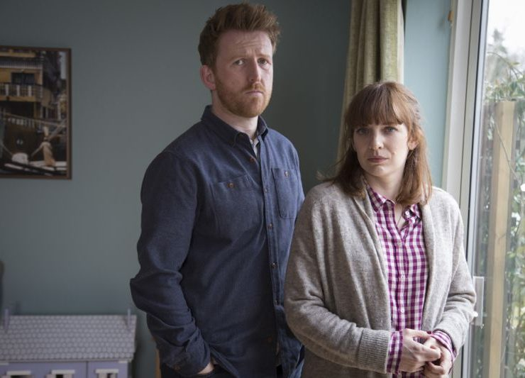 Tom Goodman Hill as Joe Hawkins and Katherine Parkinson as Laura Hawkins Photo Credit:Gary Moyes/Kudos/AMC/C4