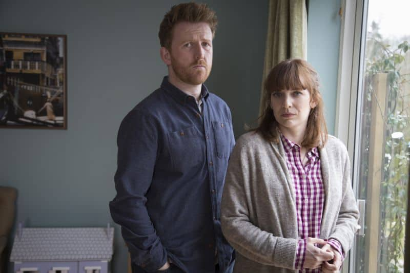 Tom Goodman Hill as Joe Hawkins and Katherine Parkinson as Laura Hawkins Photo Credit:Gary Moyes/Kudos/AMC/C4