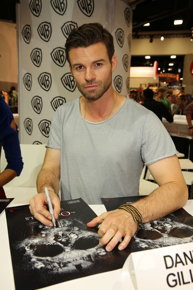 Daniel Gillies, who plays Elijah Mikaelson in the sexy supernatural drama THE ORIGINALS, prepares to meet the show's fans in the Warner Bros. booth at Comic-Con 2015. #WBSDCC (©2015 WBEI. All rights reserved.)