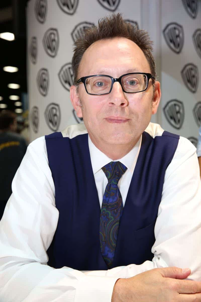 PERSON OF INTEREST star Michael Emerson during the show's signing in the Warner Bros. booth on Saturday, July 11, at Comic-Con 2015. #WBSDCC (© 2015 WBEI. All Rights Reserved.)