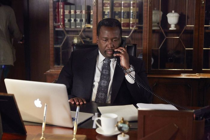 """SUITS -- """"No Puedo Hacerlo"""" Episode 504 -- Pictured: Wendell Pierce as Robert Zane -- (Photo by: Shane Mahood/USA Network)"""