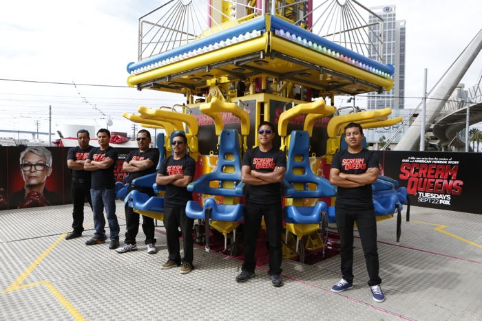 FOX FANFARE AT SAN DIEGO COMIC-CON © 2015: The SCREAM QUEENS Mega Drop Ride at the Petco Interactive Zone in San Diego on Thursday, July 24.  CR: Christy Radecic/FOX  © 2015 FOX BROADCASTING