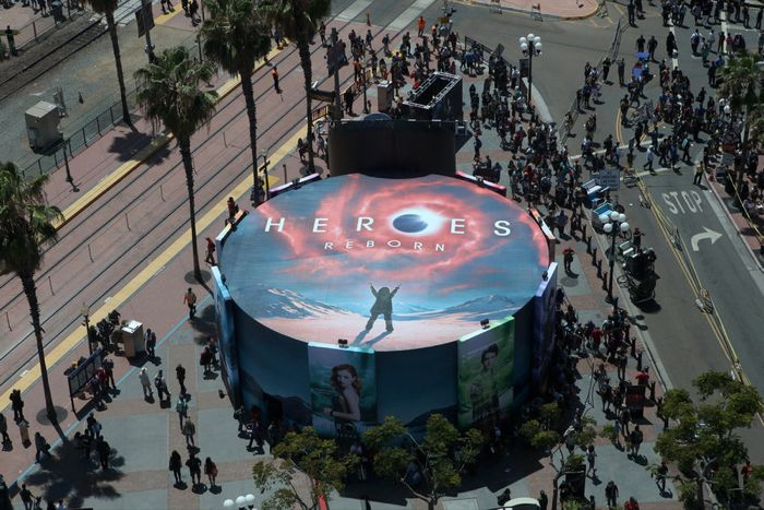 """COMIC-CON INTERNATIONAL: SAN DIEGO 2015 -- """"NBC at Comic-Con"""" -- Pictured: """"Heroes Reborn"""" installation, Thursday, July 9, 2015, from Tin Fish Gaslamp, San Diego, Calif. -- (Photo by: David Yeh/NBC)"""