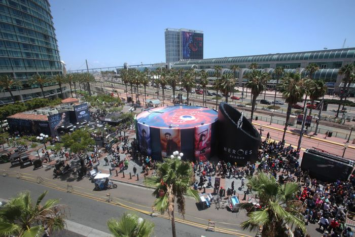 "COMIC-CON INTERNATIONAL: SAN DIEGO 2015 -- ""NBC at Comic-Con"" -- Pictured: ""Blindspot"" and ""Heroes Reborn"" installation, Thursday, July 9, 2015, from Tin Fish Gaslamp, San Diego, Calif. -- (Photo by: David Yeh/NBC)"