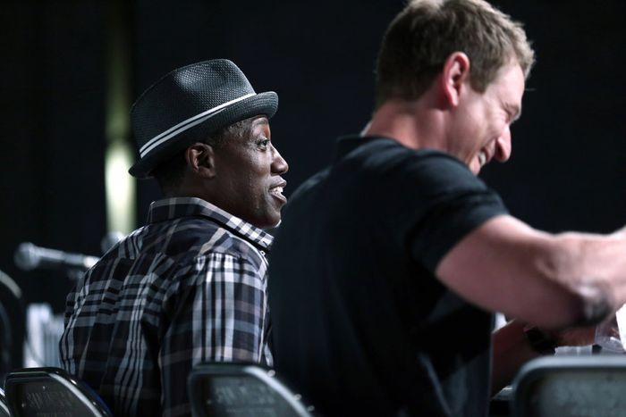 "COMIC-CON INTERNATIONAL: SAN DIEGO 2015 -- ""The Player"" Panel & Red Carpet -- Pictured: (l-r) Wesley Snipes, Philip Winchester, Thursday, July 9, 2015, from San Diego Convention Center, San Diego, Calif. -- (Photo by: Mark Davis/NBC)"