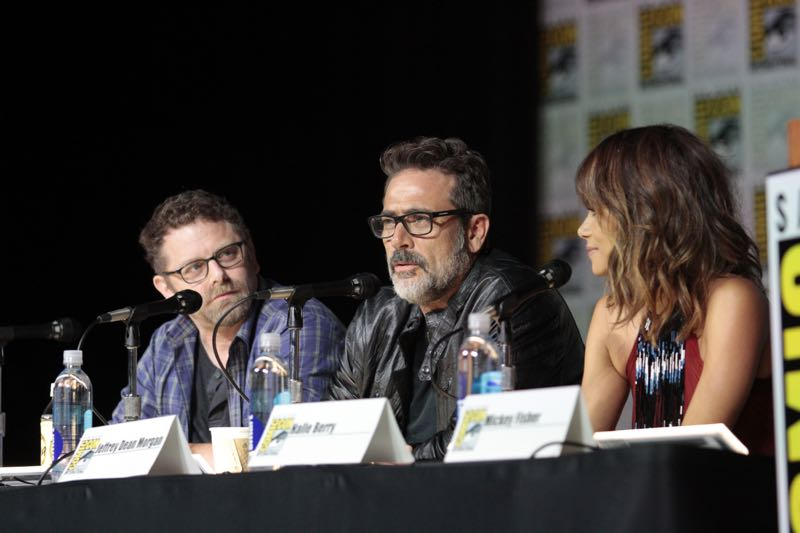 Executive Producer, Craig Shapiro, Jeffrey Dean Morgan & Halle Berry at the Extant Panel at COMIC CON 2015, held in San Diego, CA Photo: Francis Specker/CBS ©2015 CBS Broadcasting Inc. All Rights Reserved