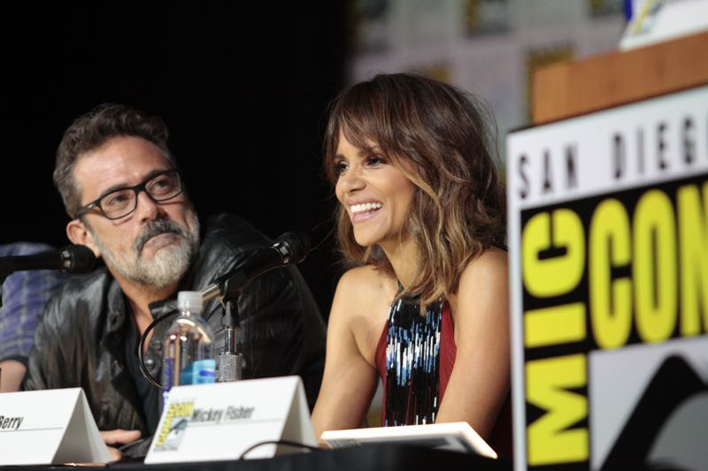 Jeffrey Dean Morgan & Halle Berry at the Extant Panel at COMIC CON 2015, held in San Diego, CA Photo: Francis Specker/CBS ©2015 CBS Broadcasting Inc. All Rights Reserved