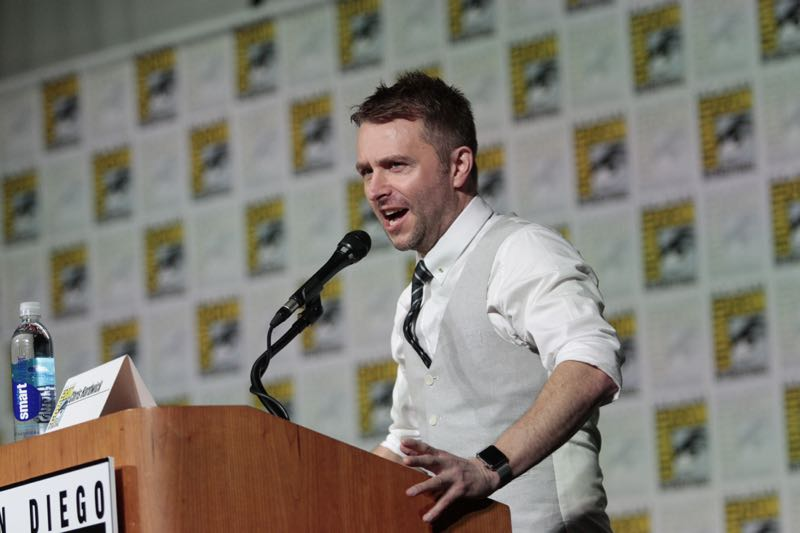 Moderator, Chris Hardwick at the Extant Panel at COMIC CON 2015, held in San Diego, CA Photo: Francis Specker/CBS ©2015 CBS Broadcasting Inc. All Rights Reserved