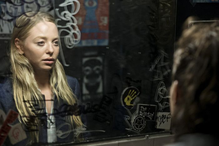 "MR. ROBOT -- ""da3m0ns.mp4"" Episode 104 -- Pictured: Portia Doubleday as Angela -- (Photo by: Virginia Sherwood/USA Network)"