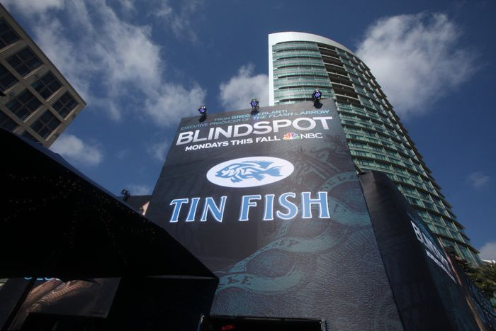 "COMIC-CON INTERNATIONAL: SAN DIEGO 2015 -- ""NBC at Comic-Con"" -- Pictured: ""Blindspot"" Installation, Wednesday, July 8, 2015, from Tin Fish Gaslamp, San Diego, Calif. -- (Photo by: David Yeh/NBC)"
