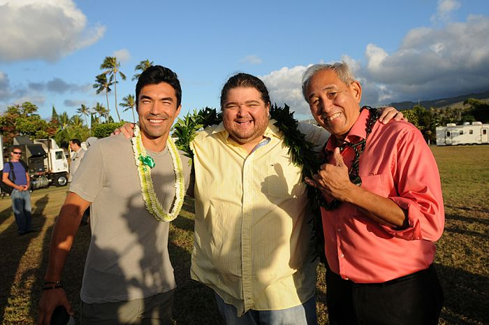 HAWAII FIVE-0 kicks off production its sixth season with a traditional Hawaiian blessing ceremony.  HAWAII FIVE-0's sixth season premieres on Friday, Sept. 25 (9:00-10:00 PM, ET/PT) on the CBS Television Network. From left to right: Ian Anthony Dale, Jorge Garcia, Dennis Chun, shown. Photo credit: Norman Shapiro/CBS ©2015 CBS Broadcasting Inc. All Rights Reserved