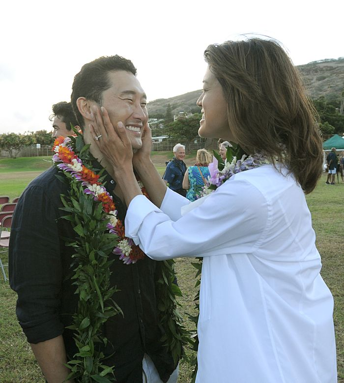 HAWAII FIVE-0 kicks off production its sixth season with a traditional Hawaiian blessing ceremony.  HAWAII FIVE-0's sixth season premieres on Friday, Sept. 25 (9:00-10:00 PM, ET/PT) on the CBS Television Network. Daniel Dae Kim, Grace Park, shown. Photo credit: Norman Shapiro/CBS ©2015 CBS Broadcasting Inc. All Rights Reserved