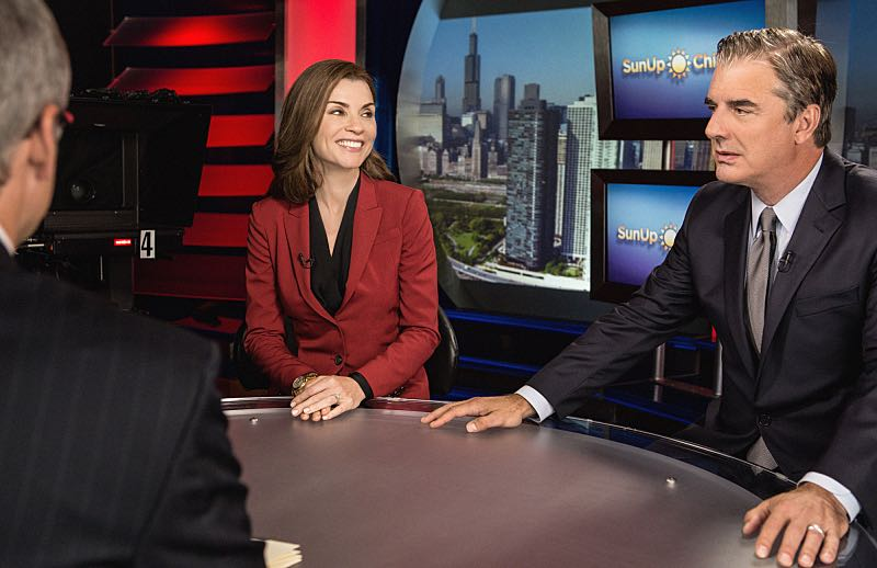 """Grunts"" -- Alicia (right Julianna Margulies)  attempts to revive her struggling law career by representing arrestees seeking release on bail in bond court, where she meets attorney Lucca Quinn (Cush Jumbo), who competes for her clients. Also, Peter ( right Chris Noth) brings in national strategist Ruth Eastman (Margo Martindale) to help with his Presidential campaign, and creates an interesting dynamic with Eli in the process, on the seventh season premiere of THE GOOD WIFE, Sunday, Oct. 4  (9:00-10:00 PM ET/PT) on the CBS Television Network. Photo: Paul Sarkis/CBS ©2015 CBS Broadcasting, Inc. All Rights Reserved"