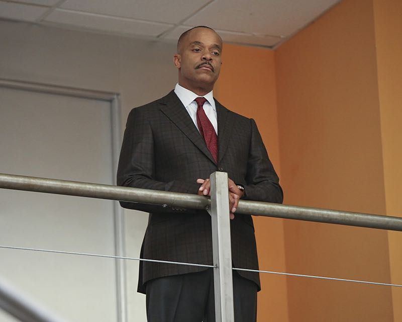 """Stop the Bleeding"" -- Gibbs fights for his life aboard a Navy hospital ship after being shot, while DiNozzo and Joanna Teague travel to Shanghai to try and take down the Calling, on the 13th season premiere of NCIS, Tuesday, Sept. 22 (8:00-9:00 PM, ET/PT), on the CBS Television Network. Pictured: Rocky Carroll  Photo: Monty Brinton/CBS ©2015 CBS Broadcasting, Inc. All Rights Reserved"