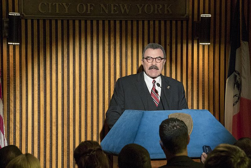 """""""Worst Case Scenario"""" -- Frank grows concerned that a threat to New York City may be imminent following a terrorist attack in the Middle East, on the sixth season premiere of BLUE BLOODS, Friday, Sept 25 (10:00-11:00 PM, ET/PT) on the CBS Television Network.  Pictured:  Tom Selleck as Frank  Reagan. Photo: John Paul Filo/CBS  ©2015CBS Broadcasting Inc. All Rights Reserved."""