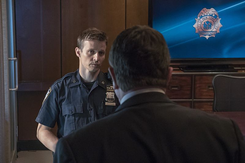 """""""Worst Case Scenario"""" -- Frank grows concerned that a threat to New York City may be imminent following a terrorist attack in the Middle East, on the sixth season premiere of BLUE BLOODS, Friday, Sept 25 (10:00-11:00 PM, ET/PT) on the CBS Television Network.  Pictured: L-R: Will Estes as Jamie Reagan, Tom Selleck as Frank  Reagan. Photo: John Paul Filo/CBS  ©2015CBS Broadcasting Inc. All Rights Reserved."""