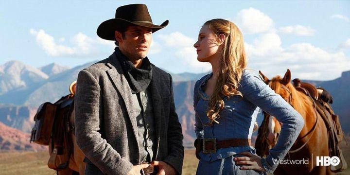 James Marsden and Evan Rachel Wood in Westworld