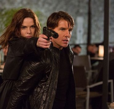 Rebecca Ferguson Tom Cruise Mission Impossible Rogue Nation