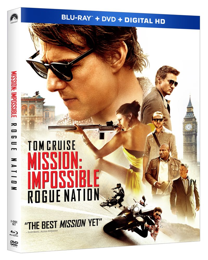 MISSION IMPOSSIBLE ROGUE NATION Bluray Cover