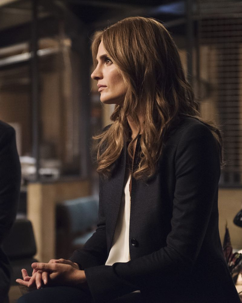 "CASTLE - ""What Lies Beneath"" - When Castle's idol, a famously reclusive author, turns up dead, Castle is determined to solve his hero's murder. But as he and Beckett dig deeper, they discover that truth is stranger than fiction. ""What Lies Beneath"" will air on MONDAY, OCTOBER 12 (10:01-11:00 p.m. ET/PT) on the ABC Television Network. (ABC/Colleen Hayes) STANA KATIC"