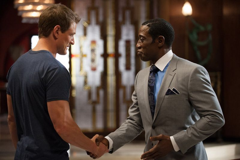 """THE PLAYER -- """"Ante Up"""" Episode 101-- Pictured: (l-r) Philip Winchester as Alex, Wesley Snipes as Mr. Johnson -- (Photo by: Colleen Hayes/NBC)"""