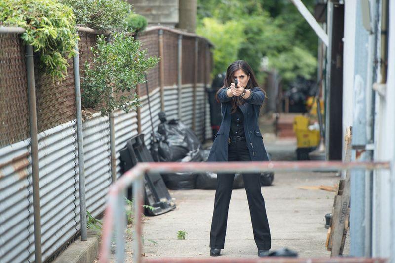 "BLINDSPOT -- ""Eight Slim Grins"" Episode 103 -- Pictured: Audrey Esparza as Tasha Zapata -- (Photo by: JoJo Whilden/NBC)"