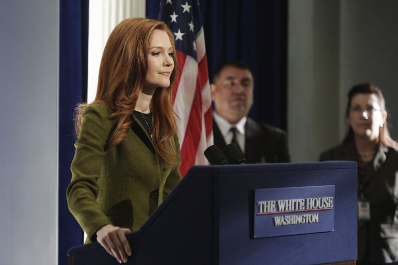 """SCANDAL - """"Paris is Burning"""" - Olivia and Fitz face some very big consequences and Mellie brings in an old friend to make sure she gets her way. Meanwhile, Abby shows Olivia she is fully capable of handling working at the White House, on """"Scandal,"""" THURSDAY OCTOBER 8 (9:00-10:00 p.m., ET) on the ABC Television Network. (ABC/Michael Desmond) DARBY STANCHFIELD"""