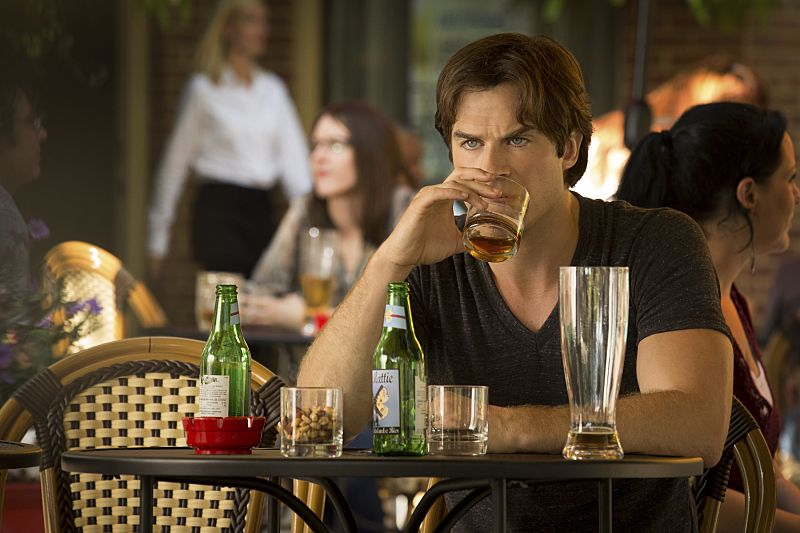 """The Vampire Diaries -- """"Day One of Twenty-Two Thousand, Give or Take"""" Pictured: Ian Somerhalder as Damon -- Photo: Bob Mahoney/The CW"""