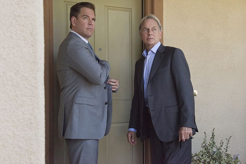 """""""Incognito"""" -- After a Marine is found murdered in Quantico hours after calling Gibbs to discuss a possible case, Bishop and McGee go undercover as a married couple to run surveillance on a Marine Lieutenant and his wife, on NCIS, Tuesday, Oct. 6 (8:00-9:00 PM, ET/PT), on the CBS Television Network. Pictured left to right: Michael Weatherly and Mark Harmon Photo: Colleen Hayes/CBS ©2015 CBS Broadcasting, Inc. All Rights Reserved"""