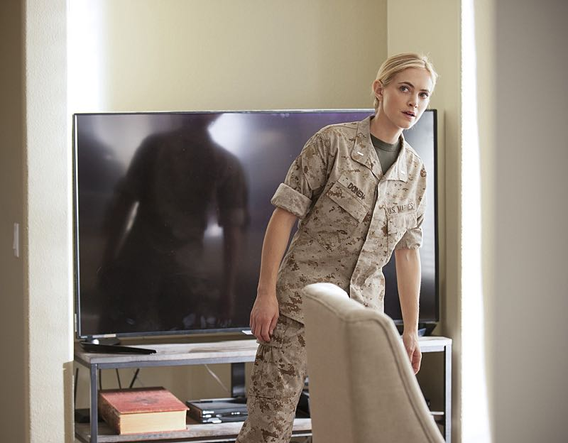 """""""Incognito"""" -- After a Marine is found murdered in Quantico hours after calling Gibbs to discuss a possible case, Bishop (Emily Wickersham) and McGee go undercover as a married couple to run surveillance on a Marine Lieutenant and his wife, on NCIS, Tuesday, Oct. 6 (8:00-9:00 PM, ET/PT), on the CBS Television Network. Photo: Colleen Hayes/CBS ©2015 CBS Broadcasting, Inc. All Rights Reserved"""